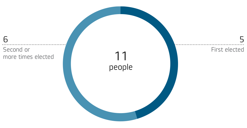 Number of new members in the Board of Directors